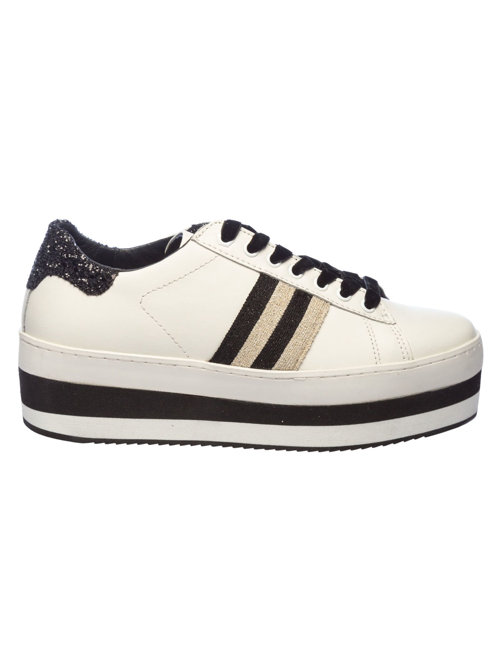 MOA COLLECTION Moa Usa M926 Platform Sneakers in White/Black