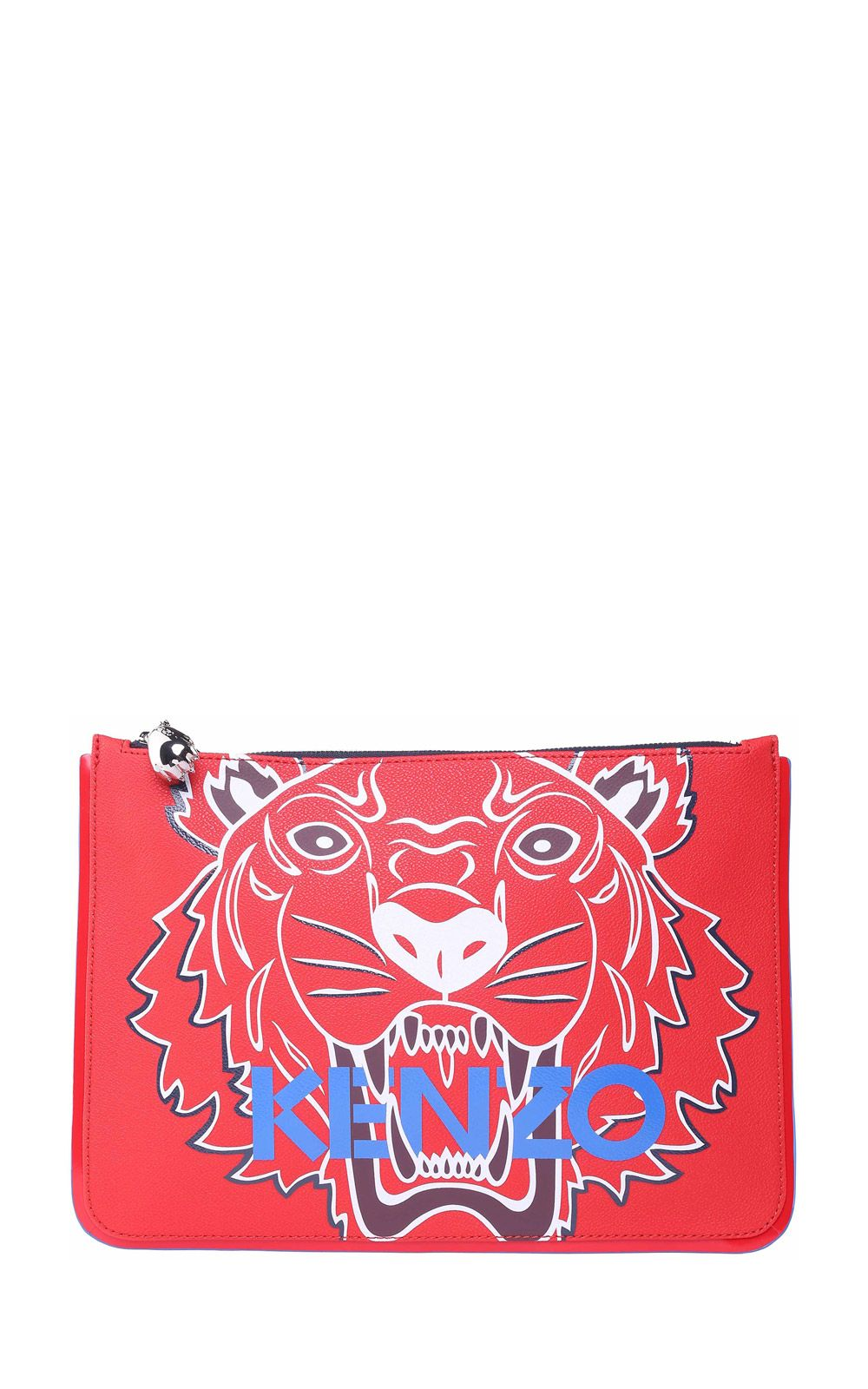 Kenzo Kenzo Tiger A5 Faux-leather Clutch