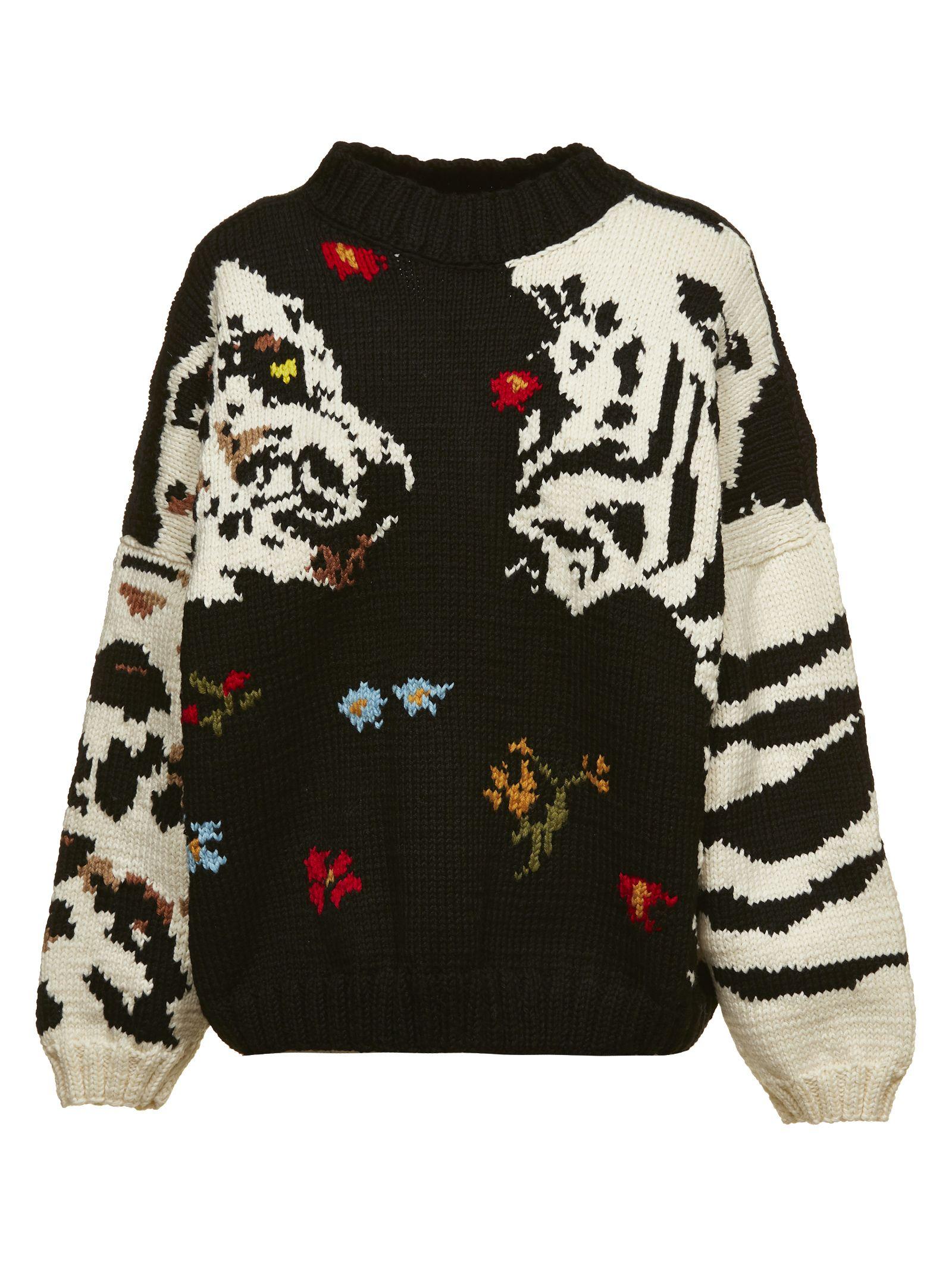 SONIA BY SONIA RYKIEL Sonia By Sonia Rykiel Embroidered Sweater in Nero Multicolor
