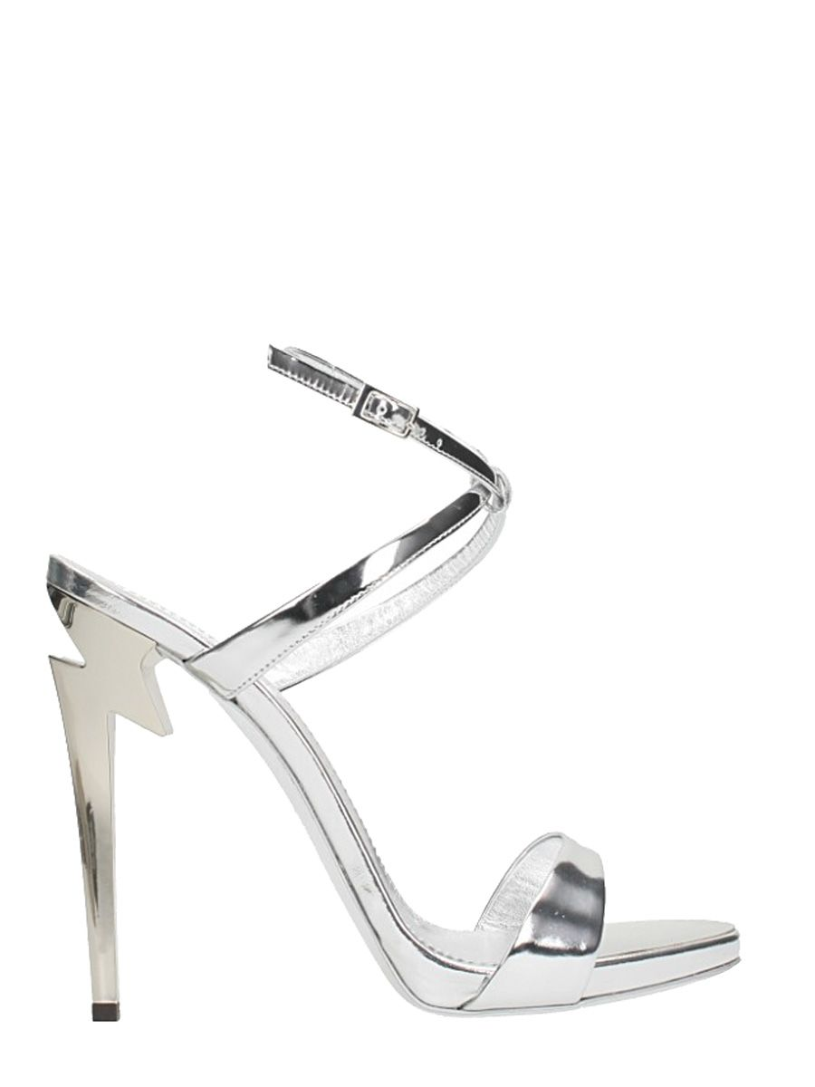 Giuseppe Zanotti Mirrored patent leather pump with 'sculpted' heel G-HEEL YSrGj