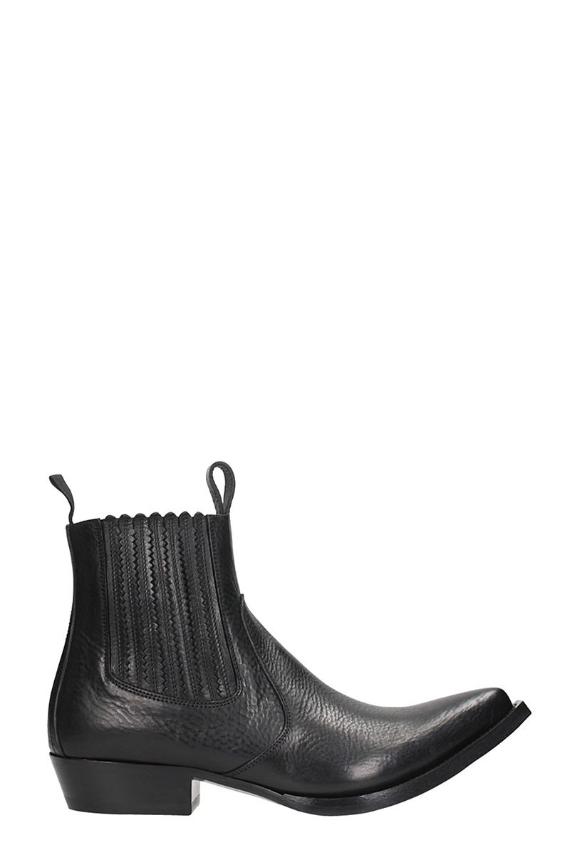 GIVENCHY WESTERN BLACK LEATHER