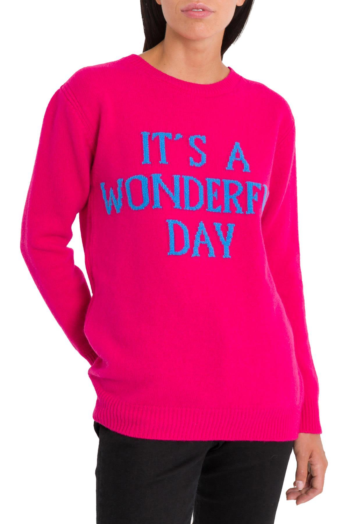 Alberta Ferretti Sweaters IT'S A WONDERFUL DAY PULL