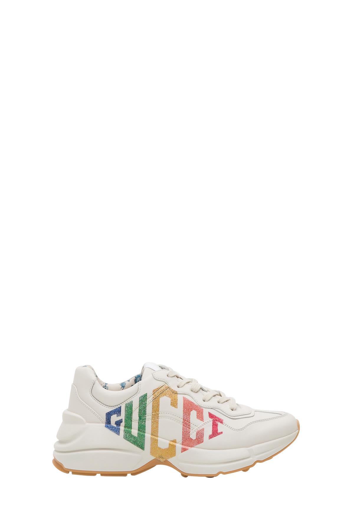 gucci -  Rhyton Glitter  Leather Sneaker