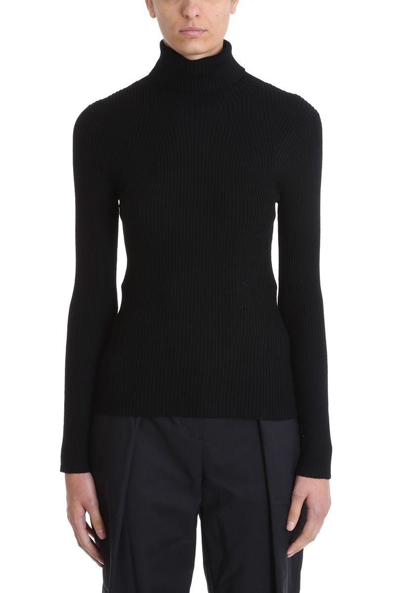 3.1 phillip lim -  Ribbed Black Wool Sweater