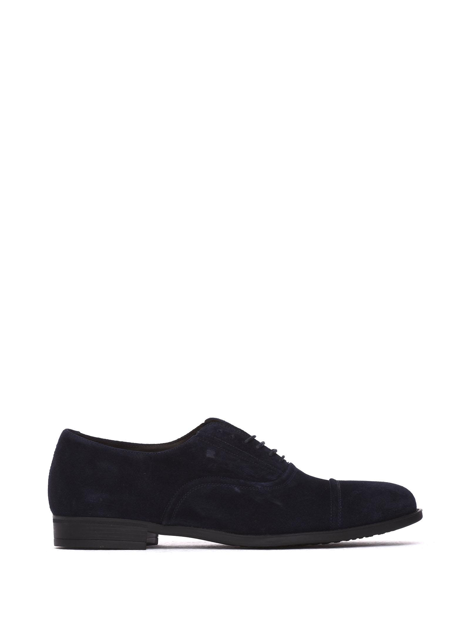 FRATELLI ROSSETTI ONE Lace-Up Shoe In Blue Navy Suede in Marine