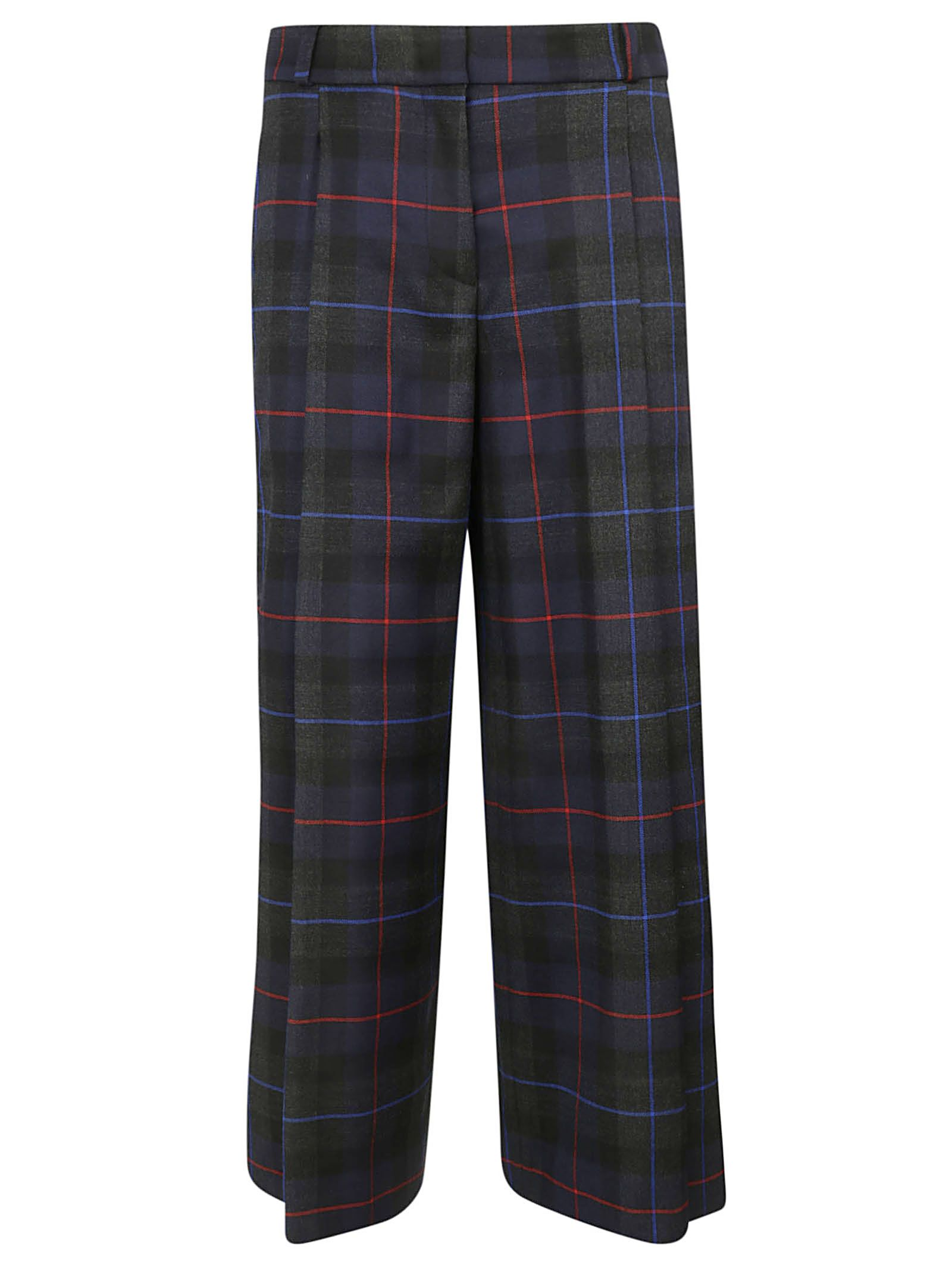 KILTIE & CO. Kiltie Checked Trousers in Tartan Navy