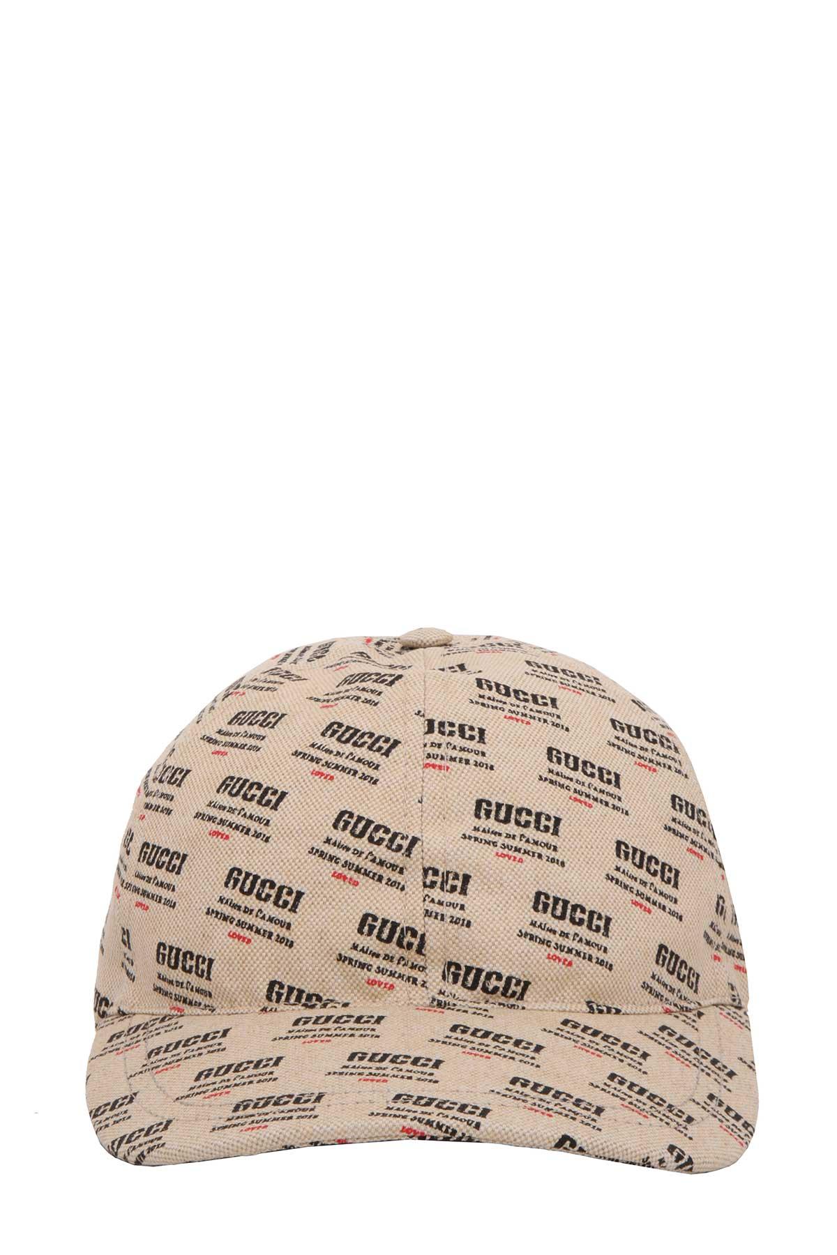 d37f0a17834 Gucci Logo-Print Linen And Cotton-Blend Canvas Baseball Cap In Neutrals