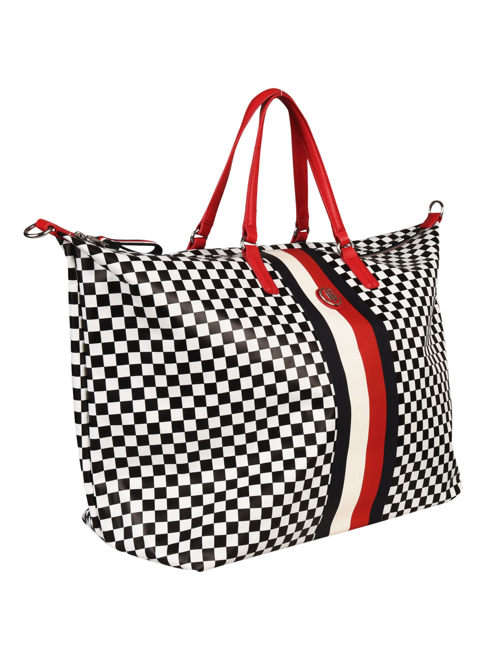 Tommy Hilfiger Tommy Hilfiger X Gigi Hadid Checkered Tote Best Sale Cheap Sale 100% Authentic Pay With Visa Cheap Price yg4fxiJ