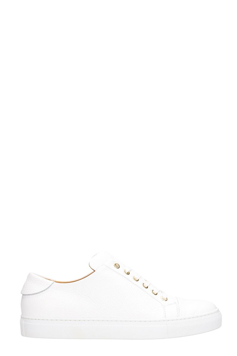 Collegium Leathers LOW WHITE LEATHER SNEAKERS