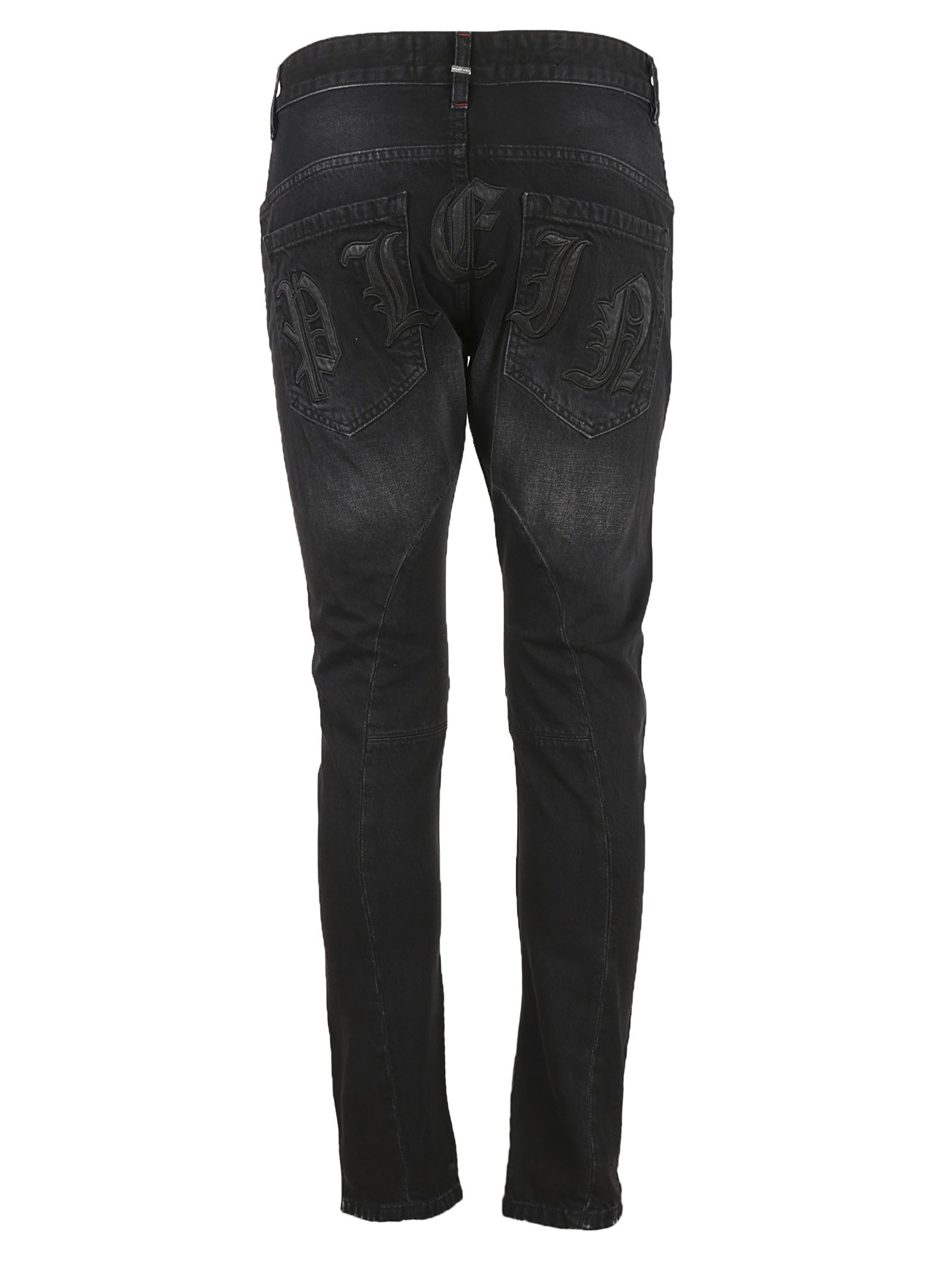 For Cheap For Sale distressed straight-leg jeans - Black Philipp Plein Discount Nicekicks Pay With Paypal For Sale VHqXcws9R