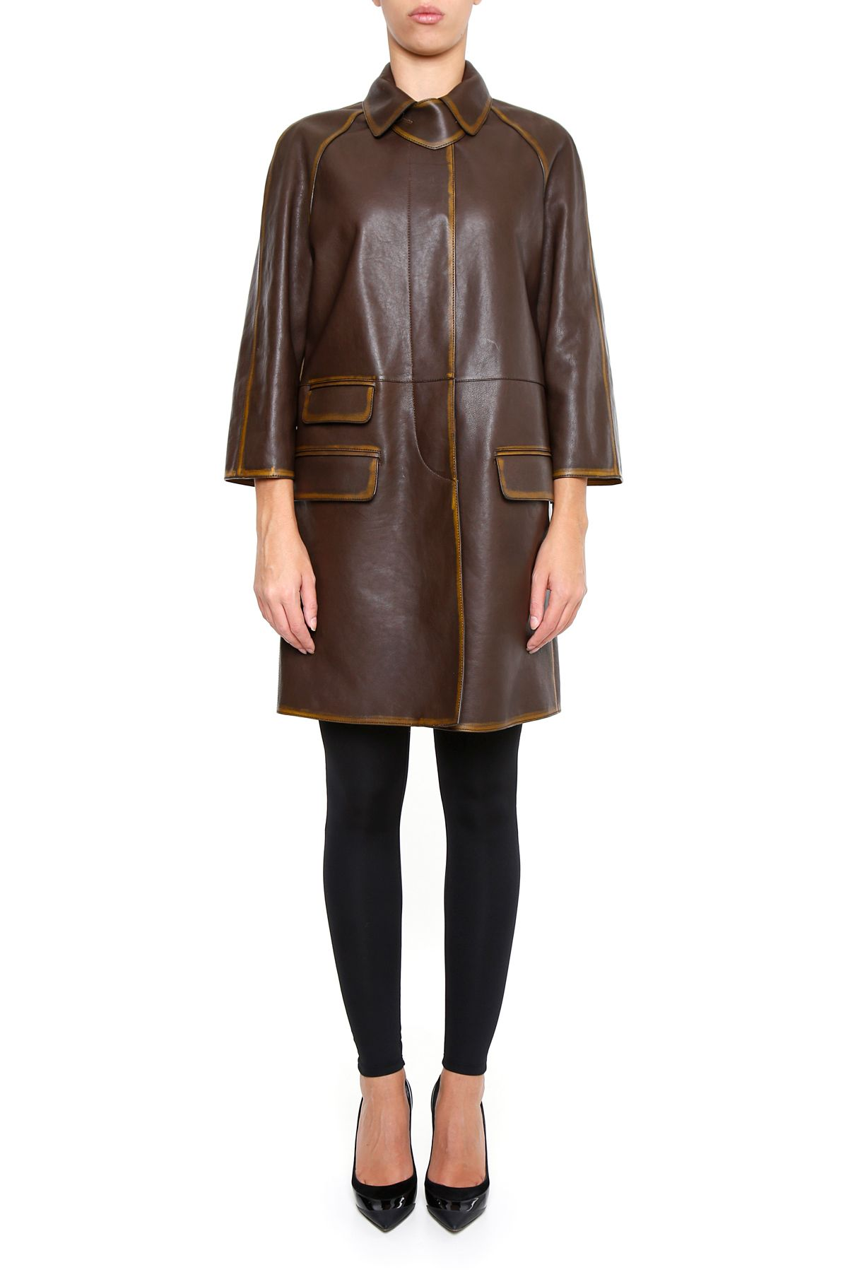 Bicolor Nappa Coat 9799960