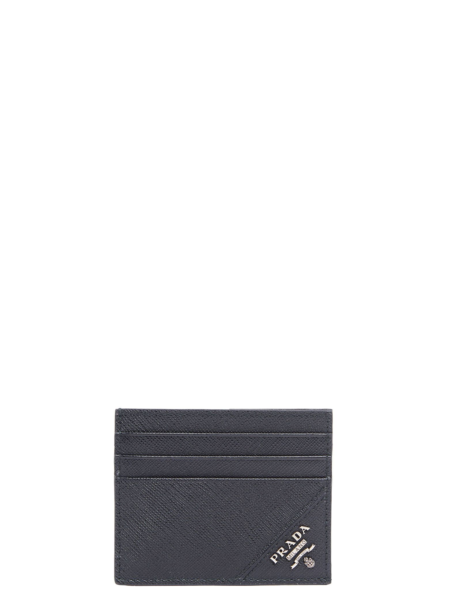 7d6c65829ee9 Prada Cartilio Saffiano Leather Card Holder In Black | ModeSens