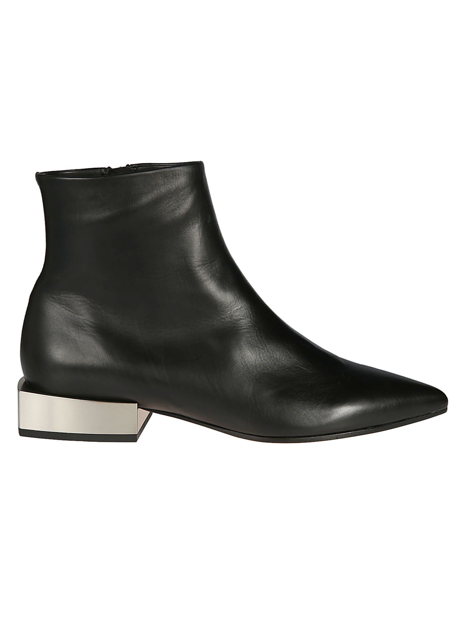 VIC MATIE Vic Matie' Squared Heel Ankle Boots in Nero