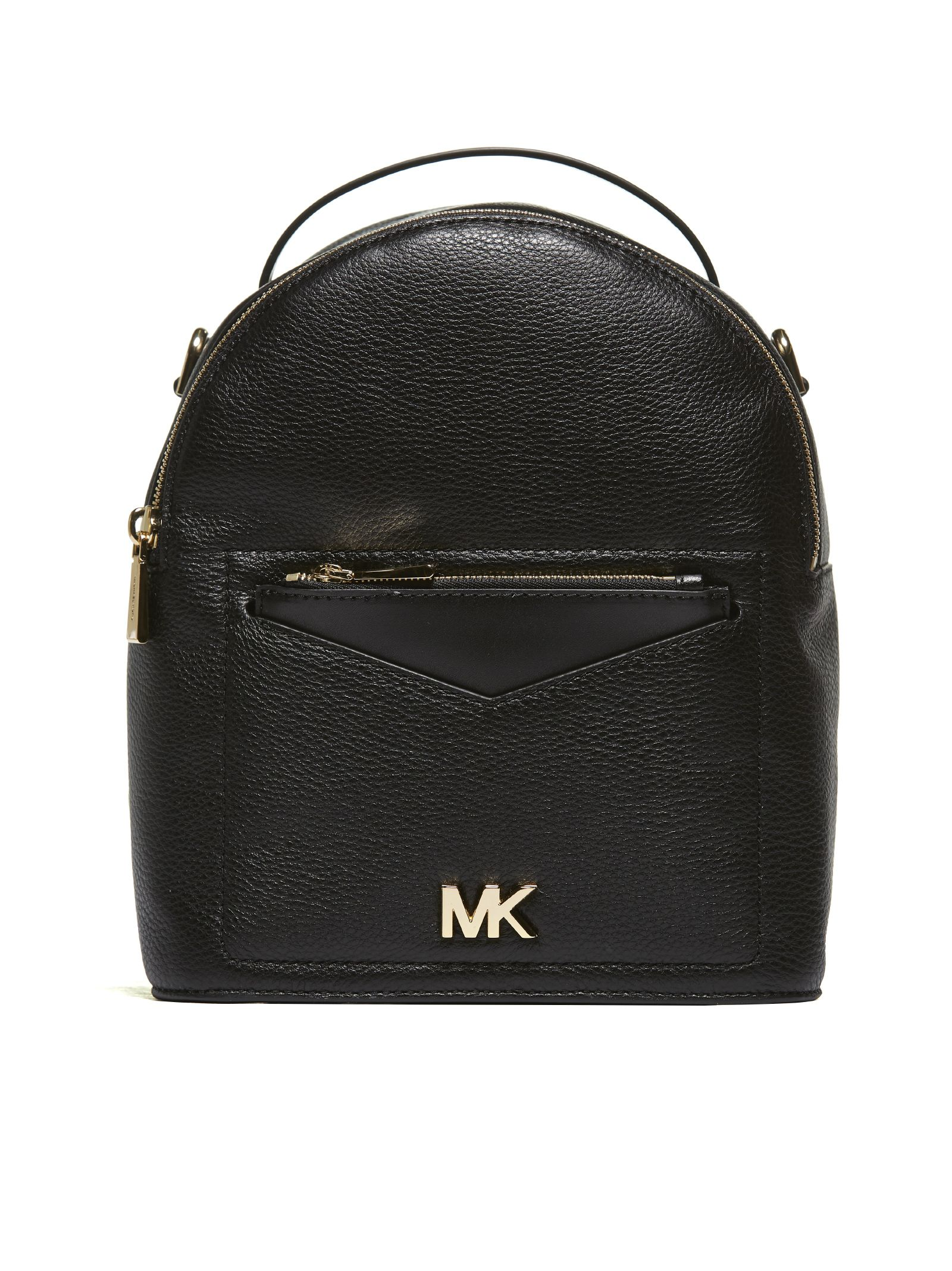 Michael Michael Kors Mk Logo Plaque Small Backpack in Nero