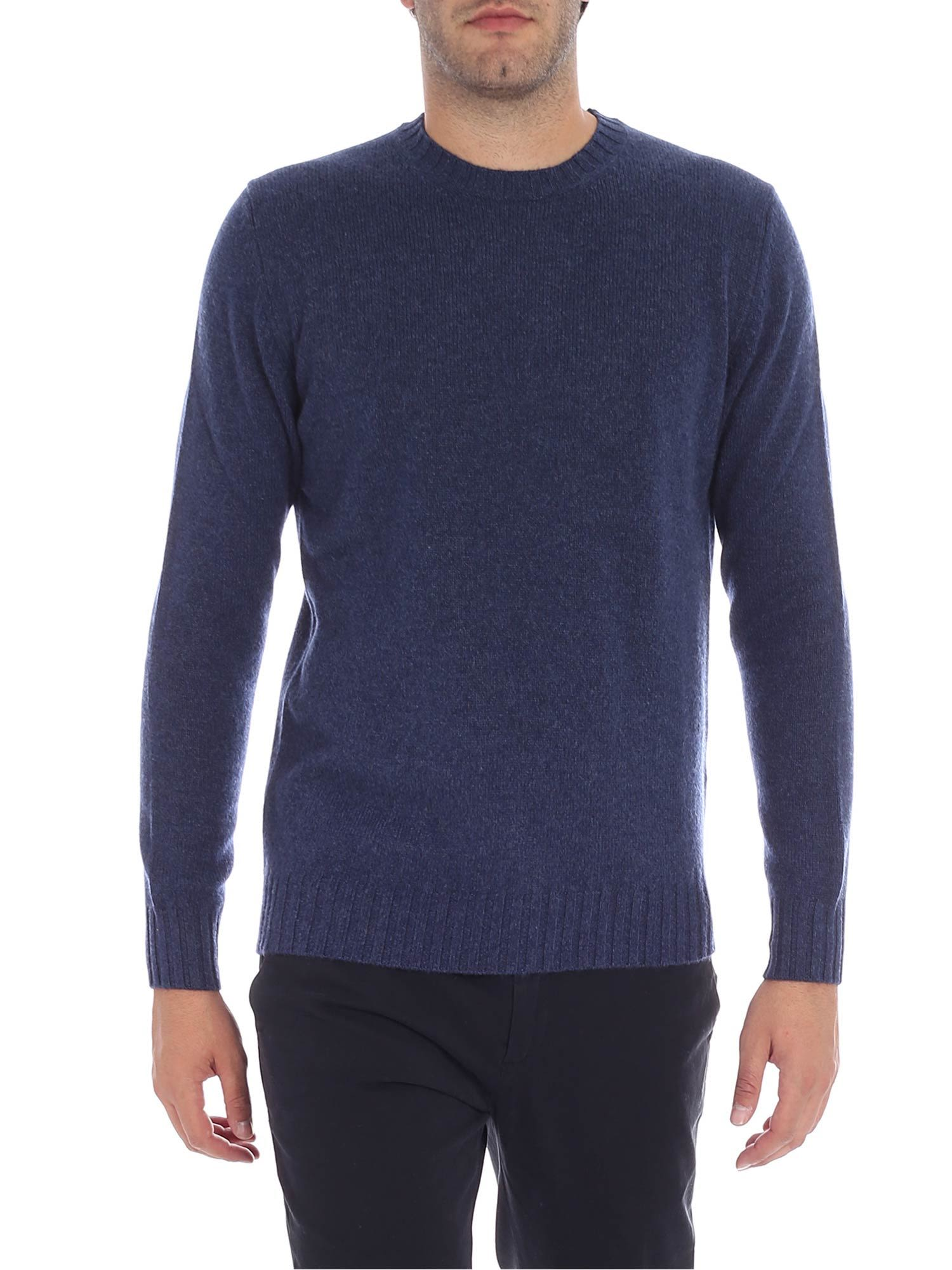 LUIGI BORRELLI Round Neck Sweater in Blue