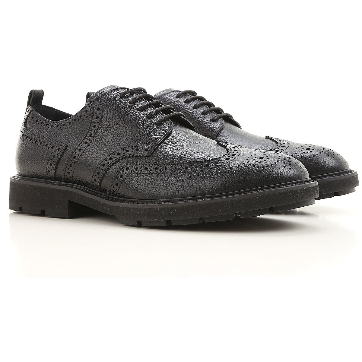Tod's HAMMERED LEATHER DERBY BROGUES