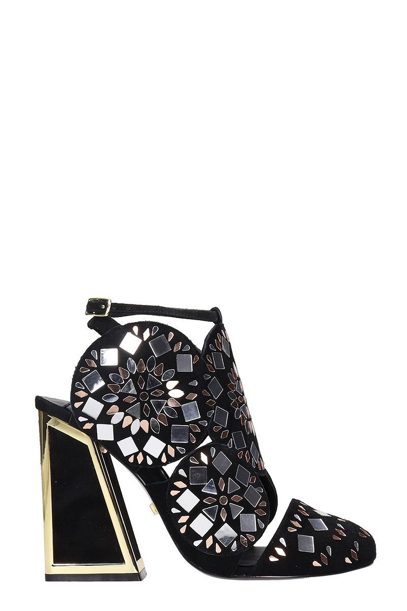 KAT MACONIE Frida Embellished Sandals in Black