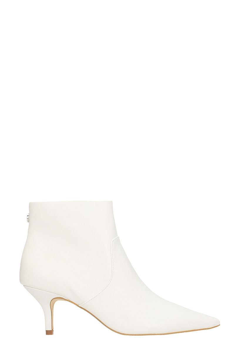 steve madden -  White Calf Leather Ankle Boots