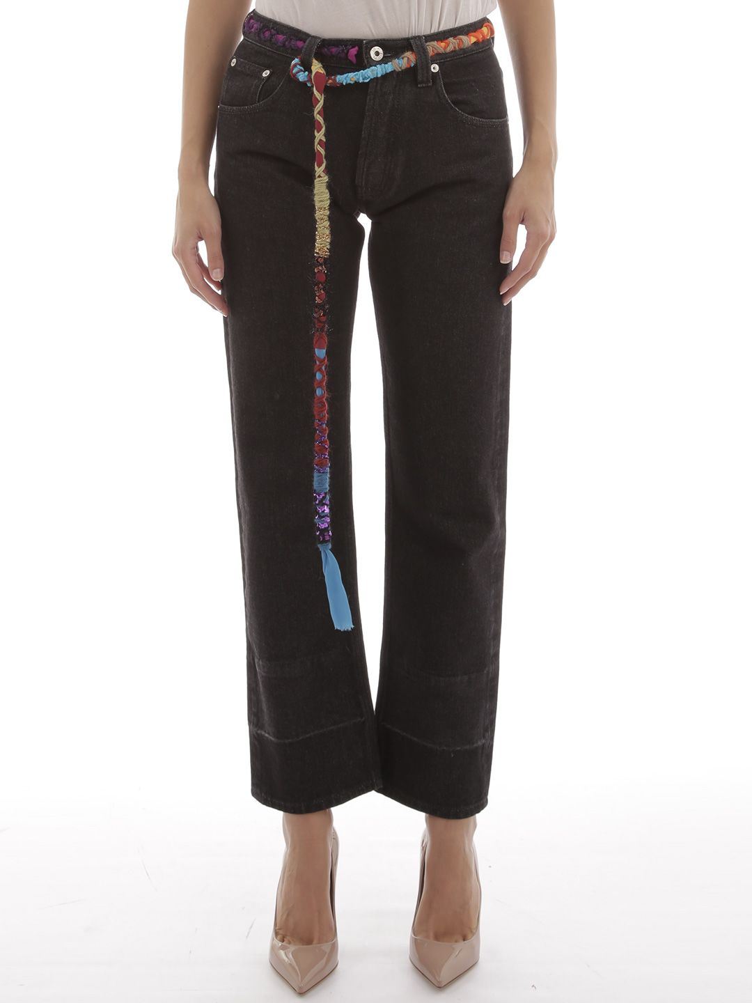 Loewe Jeans With Multicolor Knots