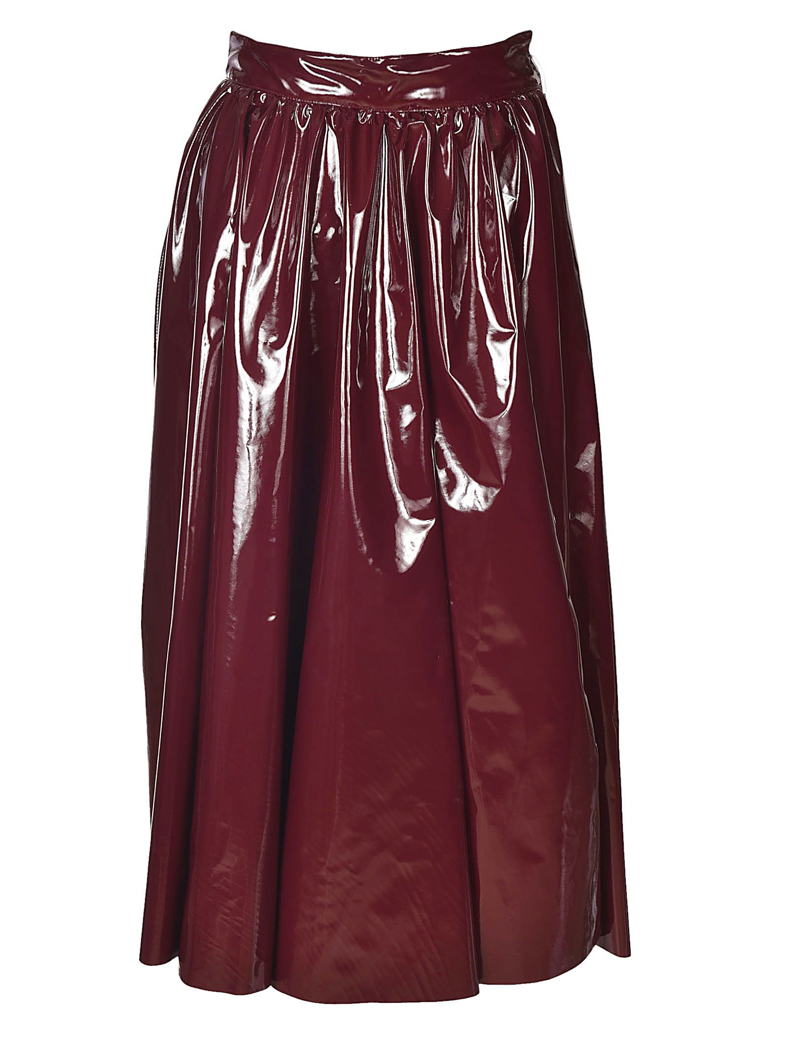 msgm -  Patent Midi Skirt