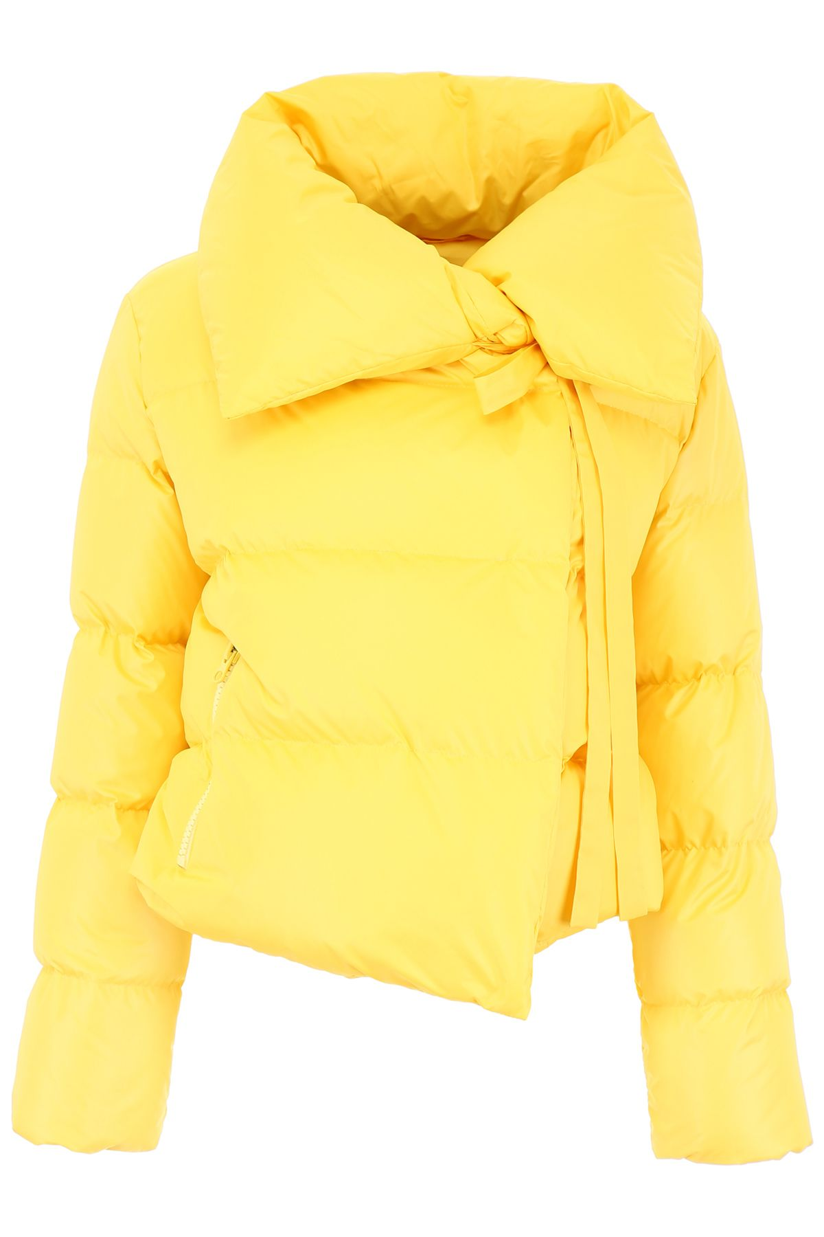 BACON CLOTHING Puffer Jacket With Bow in Yellow