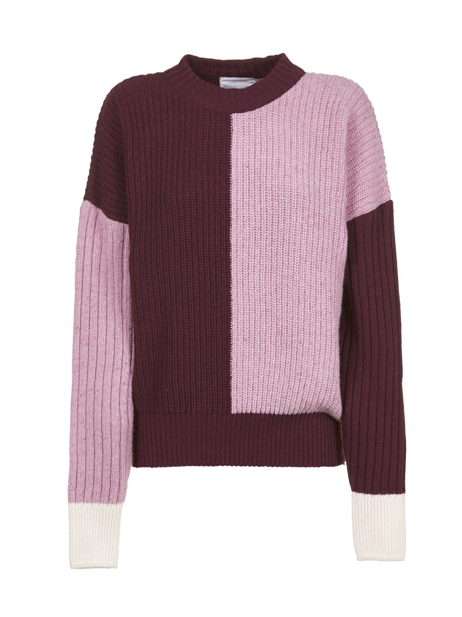 VALENTINE WITMEUR LAB Valentine Witmeur Classic Sweater in Prugna Rosa