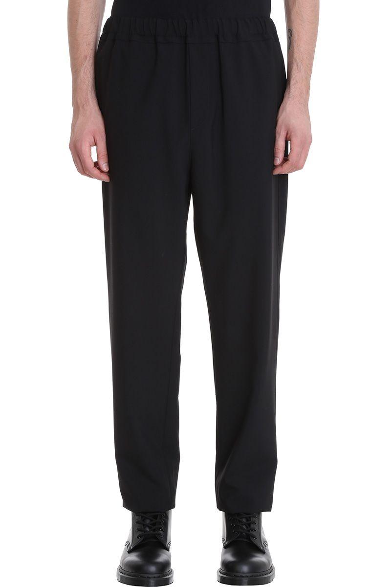 BLACK COTTON PANTS from Italist.com