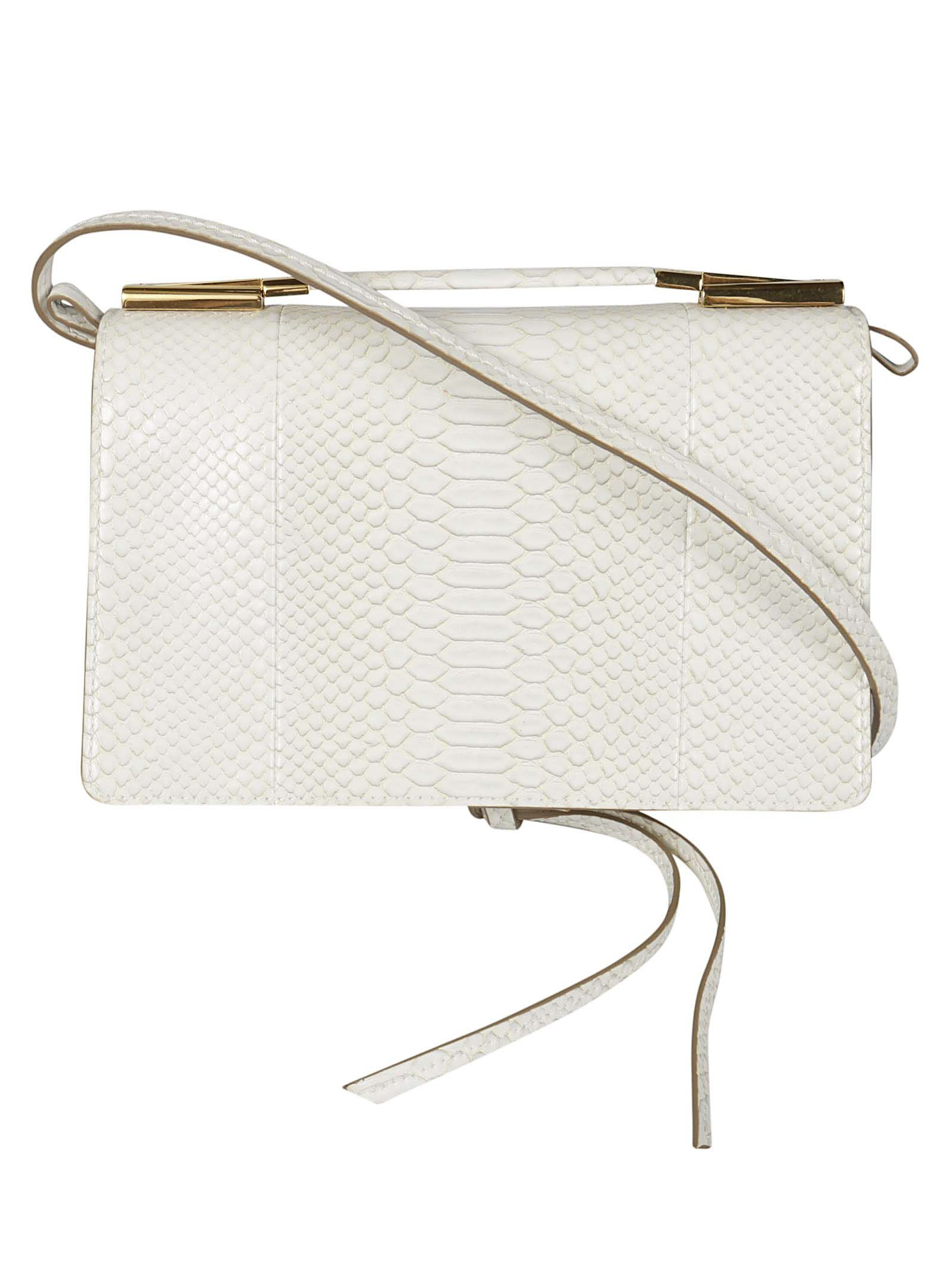 STELLA MCCARTNEY SMALL SNAKE EMBOSSED SHOULDER BAG
