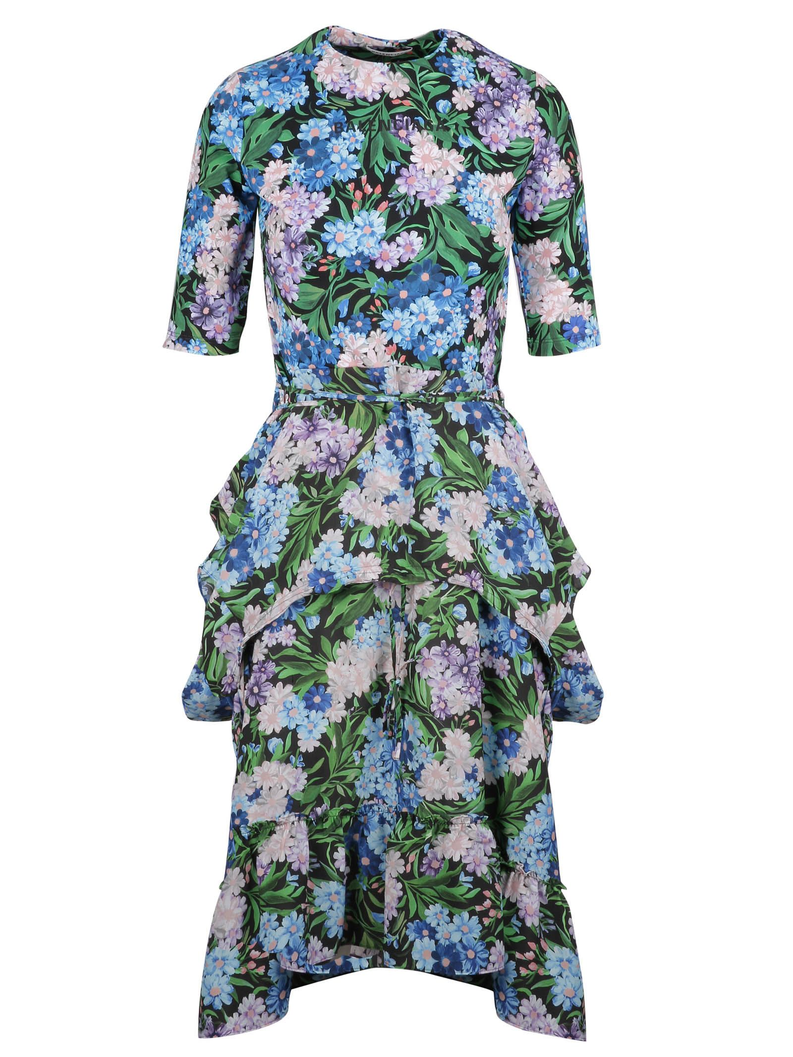balenciaga -  Ruffled Floral Dress