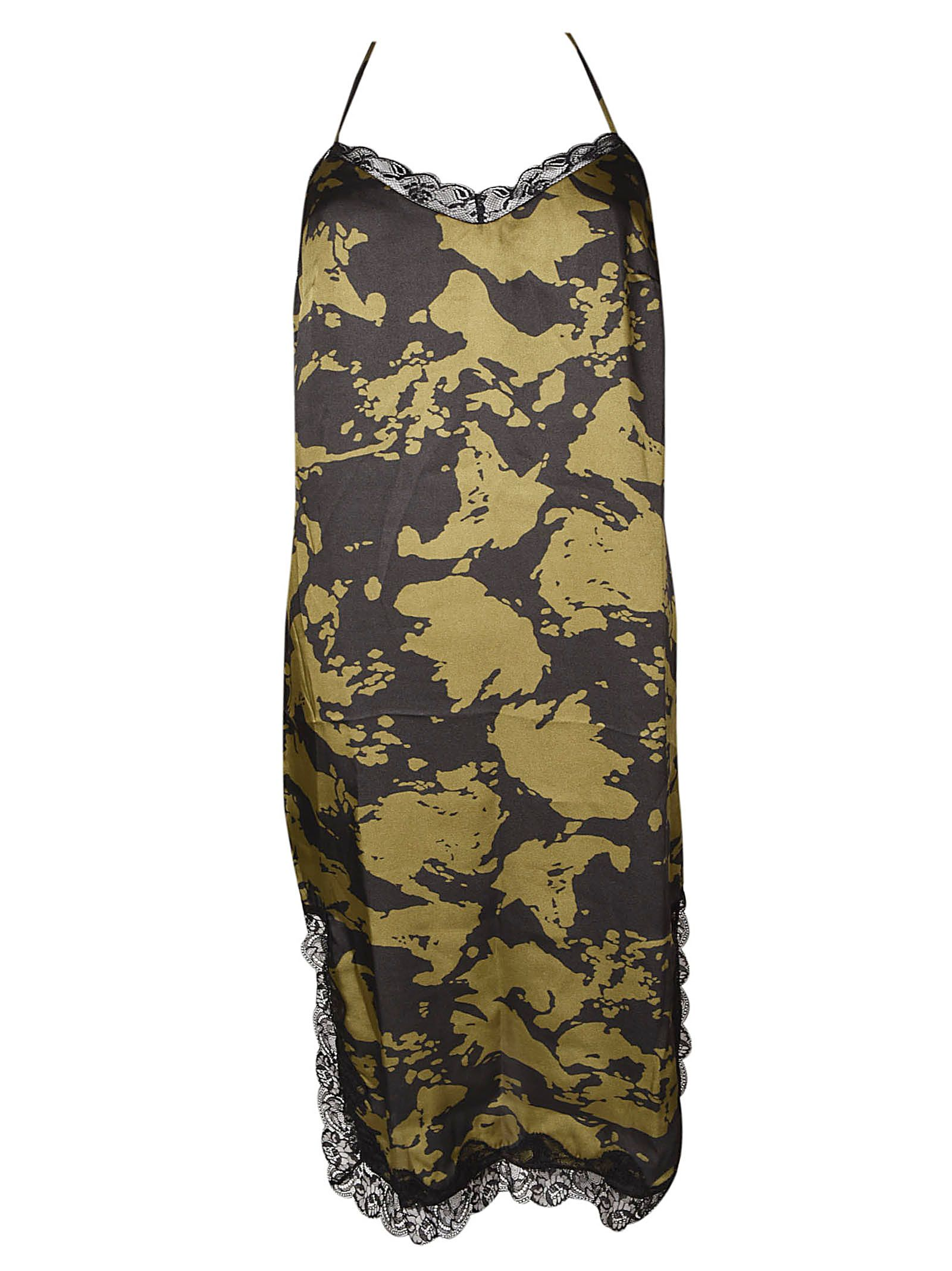 MASON'S Lace Detail Dress in Black/Green