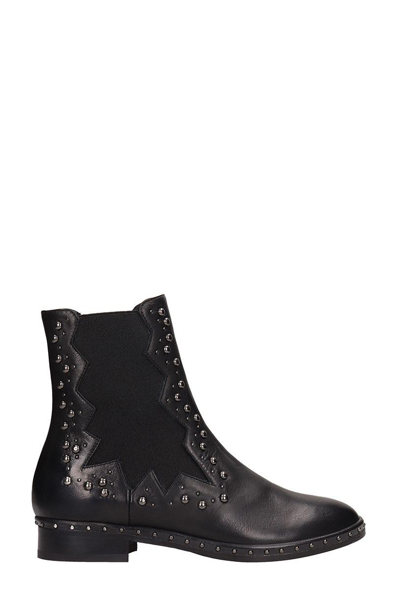 Stud Embellished Chelsea Boots in Black