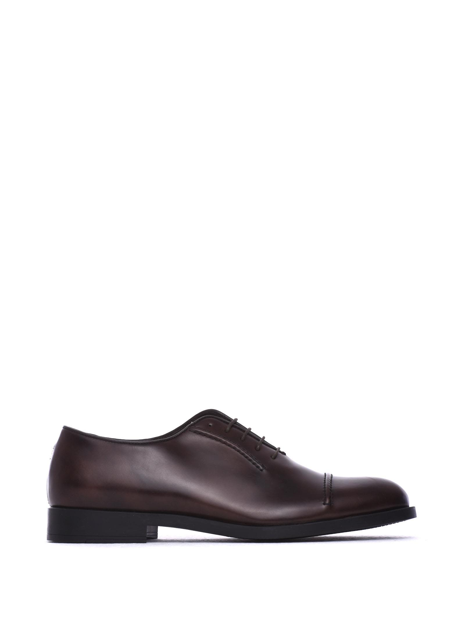 FRATELLI ROSSETTI ONE Lace-Up Dark Brown Calf Leather Shoe in Ebano