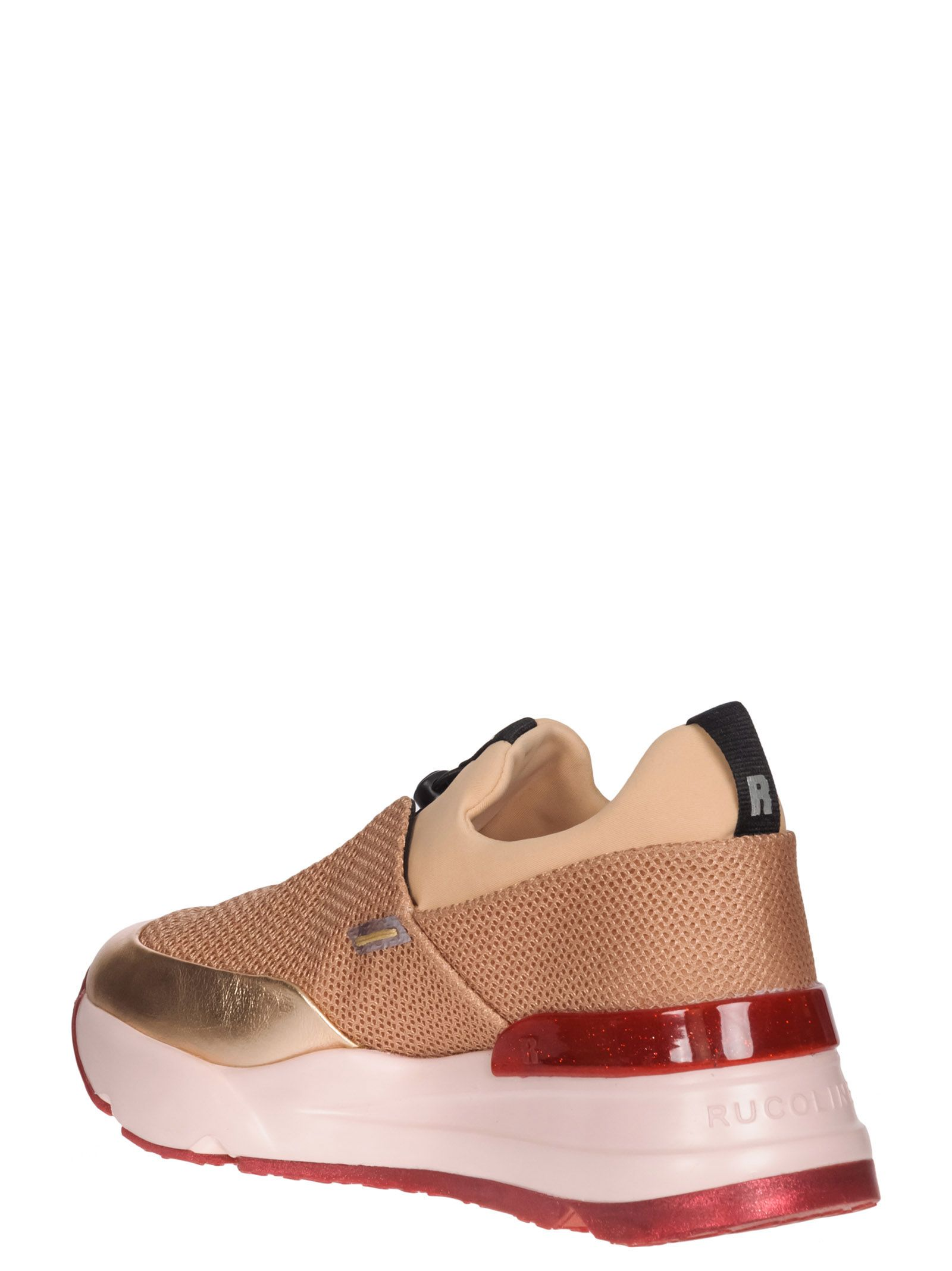 """RUCO LINE Rucoline Sneakers """"Essentiel"""" Net And Skin Pink Color in Nude"""