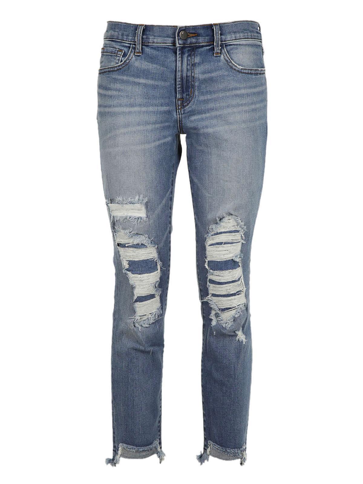 J Brand Ripped Denim Jeans
