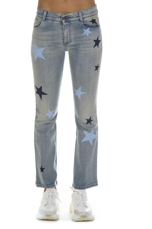 Stella McCartney Denim Cropped Stars Pattern Jeans