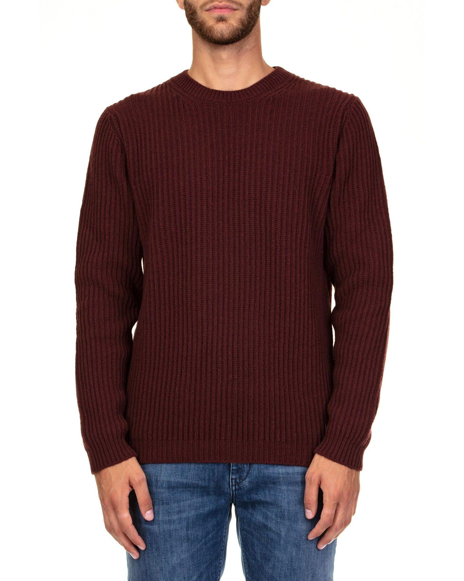 TRUSSARDI Wool Sweater in Burgundy
