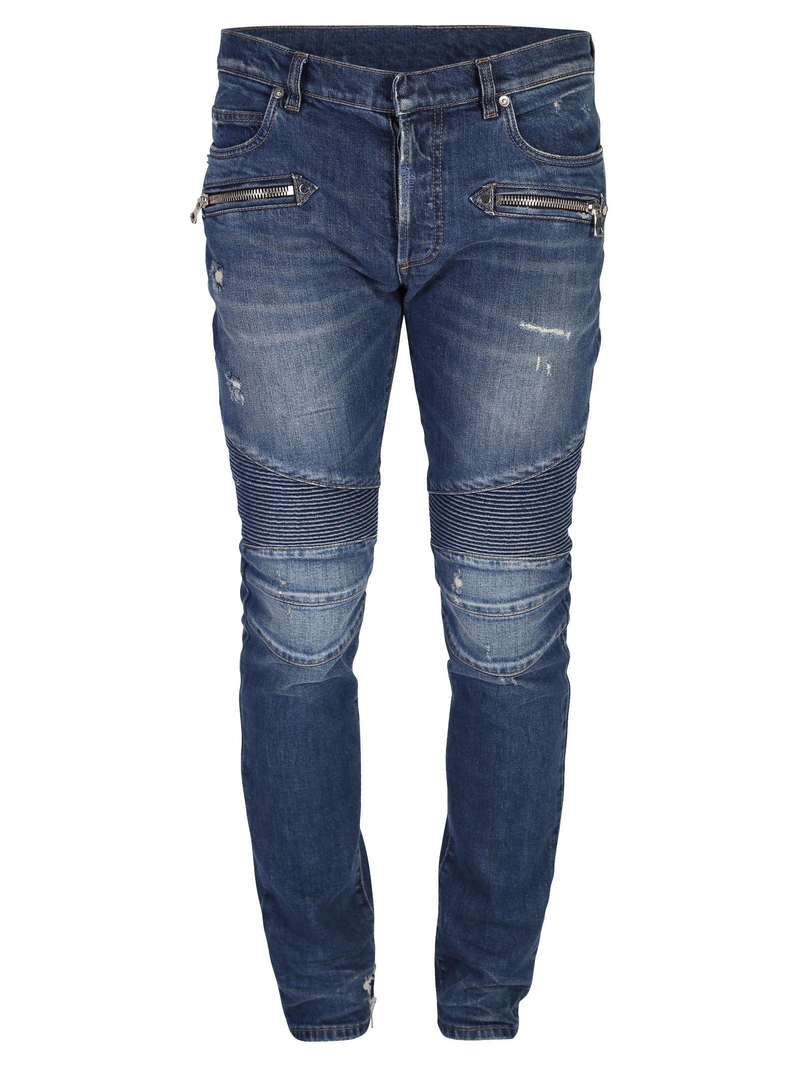 Blue Biker Jeans 10575090