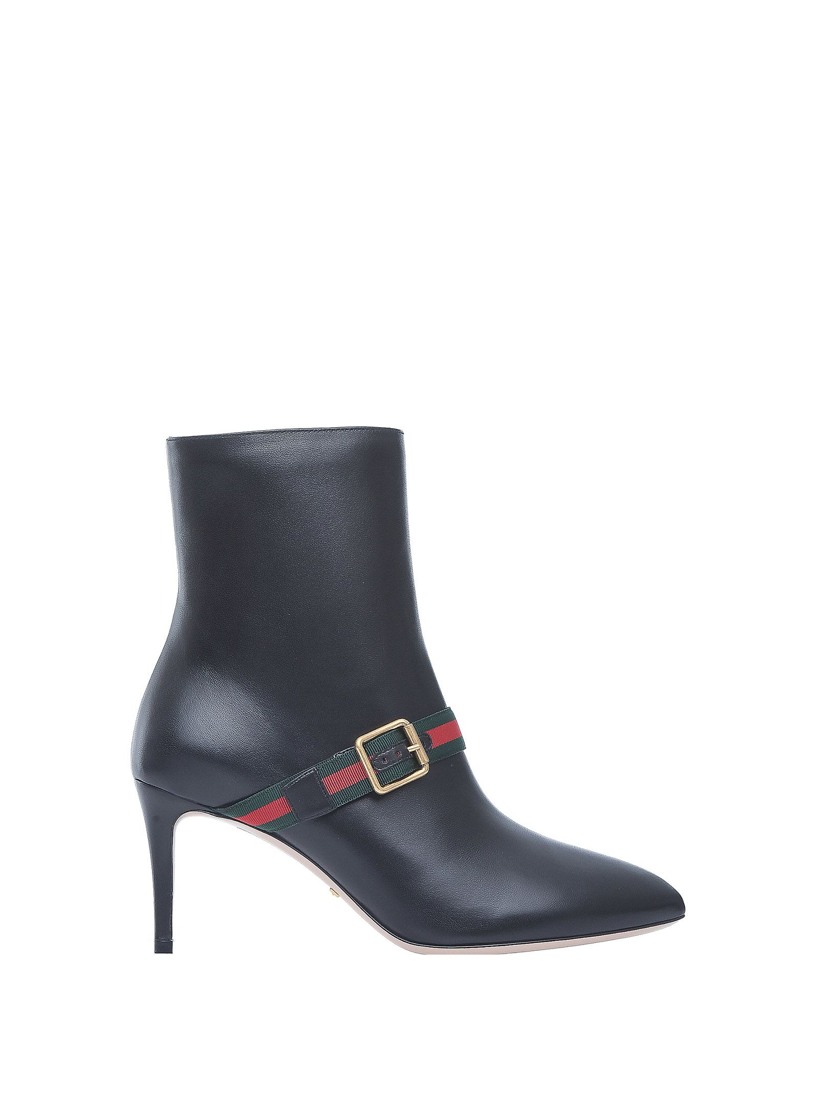 Gucci Gucci Black Leather Ankle Boots Nero Women S