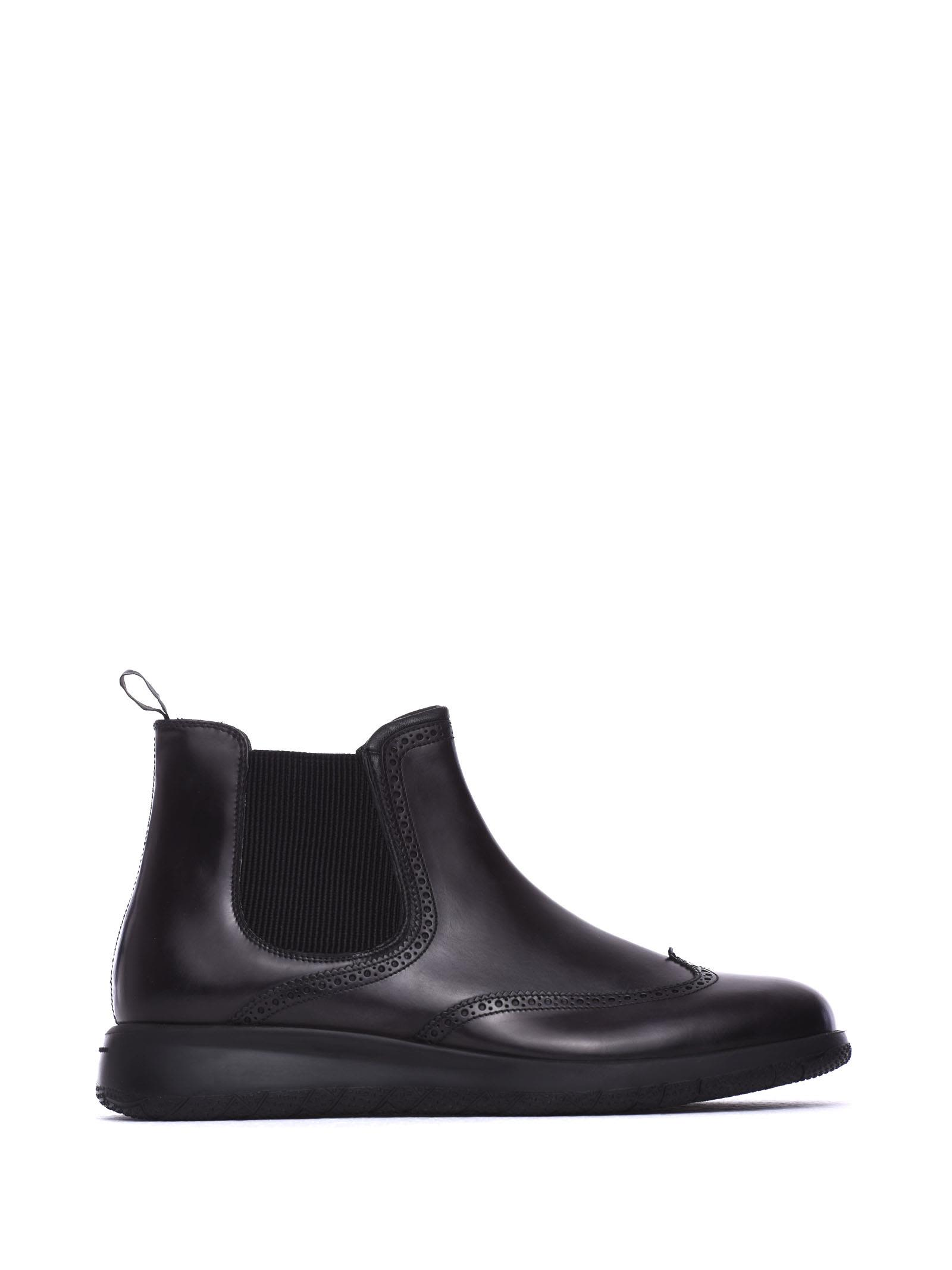 FRATELLI ROSSETTI ONE Beatles Ankle Boots In Black Calf Leather in Nero