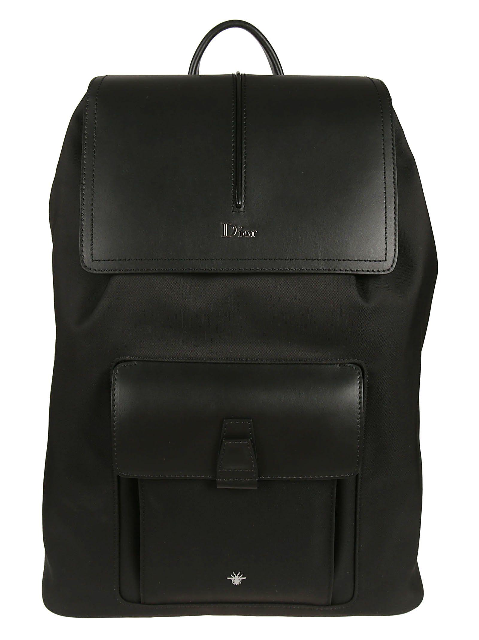 DIOR HOMME Flap Backpack, Black Multi