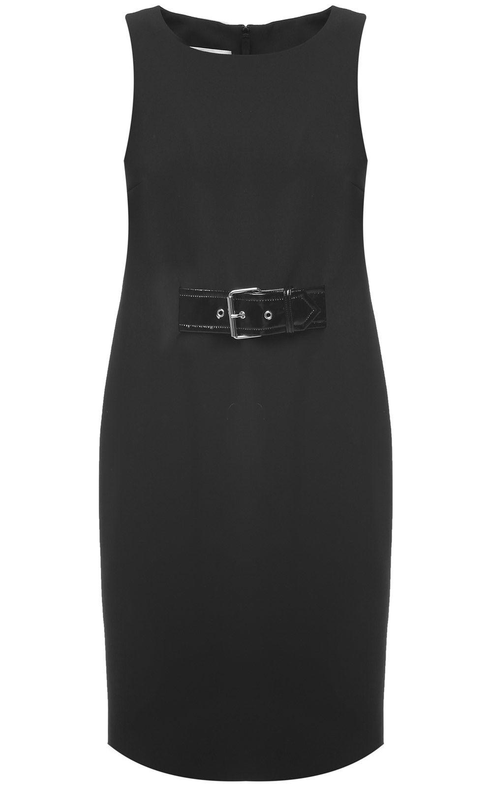 Moschino Belt-embellished Crepe Dress