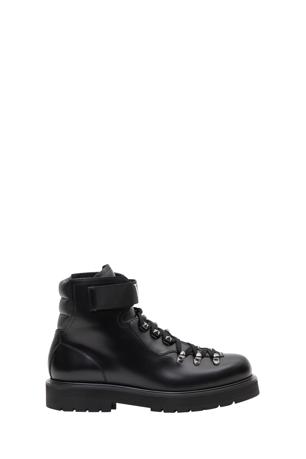 valentino garavani -  Vltn Leather Combat Boots