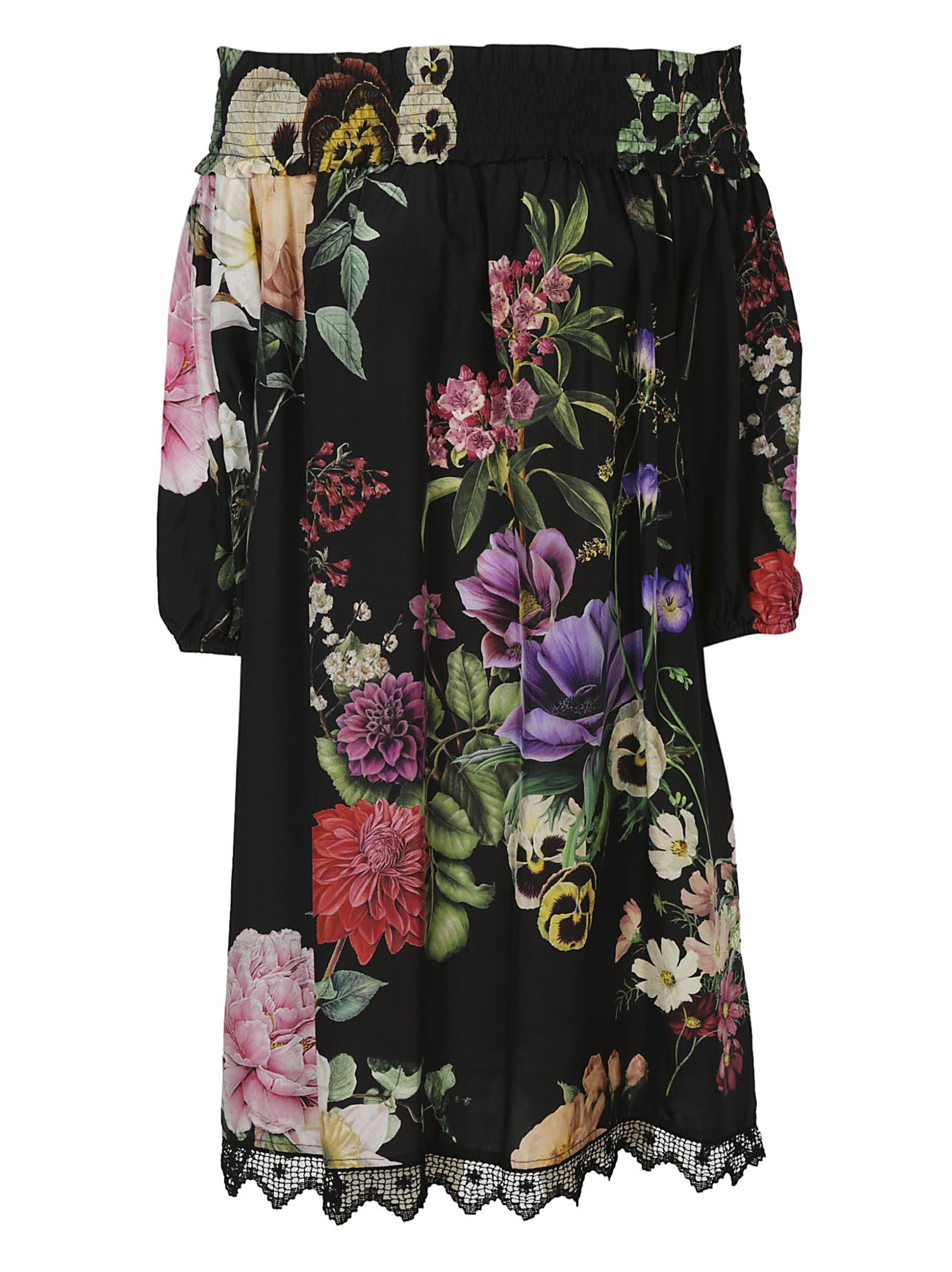 Get New floral print dress - Black P.A.R.O.S.H. Best Prices Cheap Online Sale Visit New Looking For Cheap Price cuzY9DJaBj