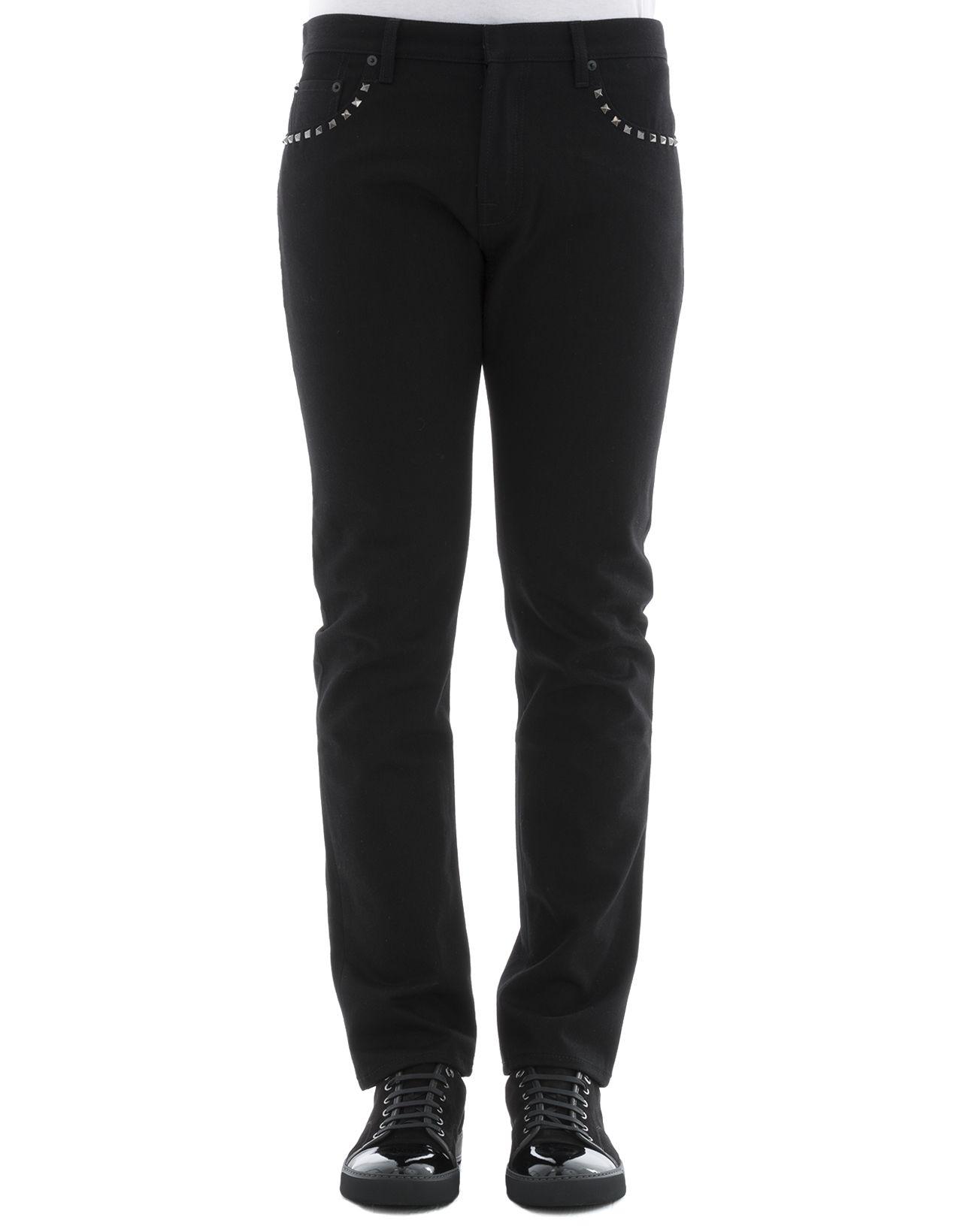 Black Cotton Jeans 8363418