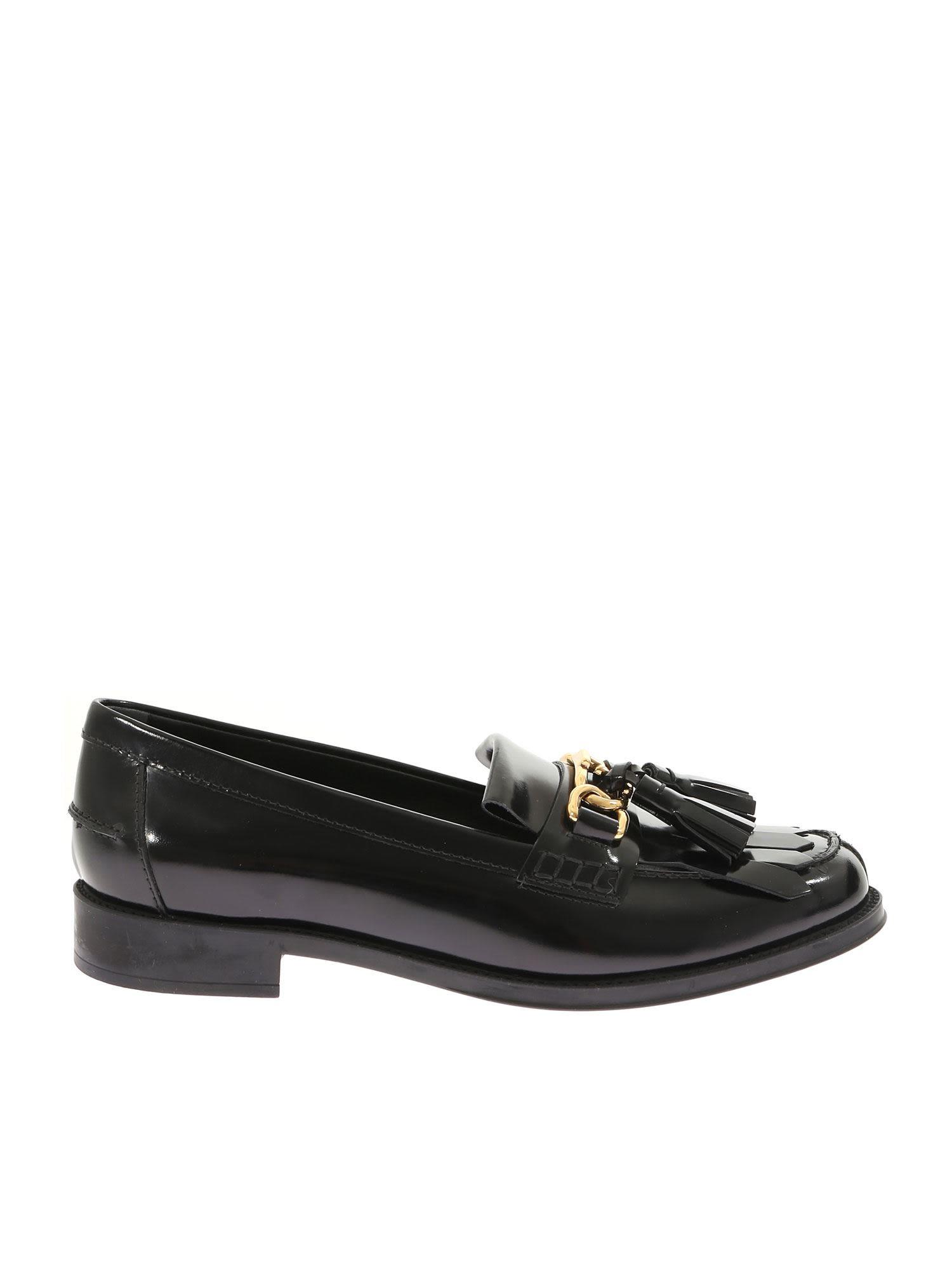 Tassel Detail Loafers, Black