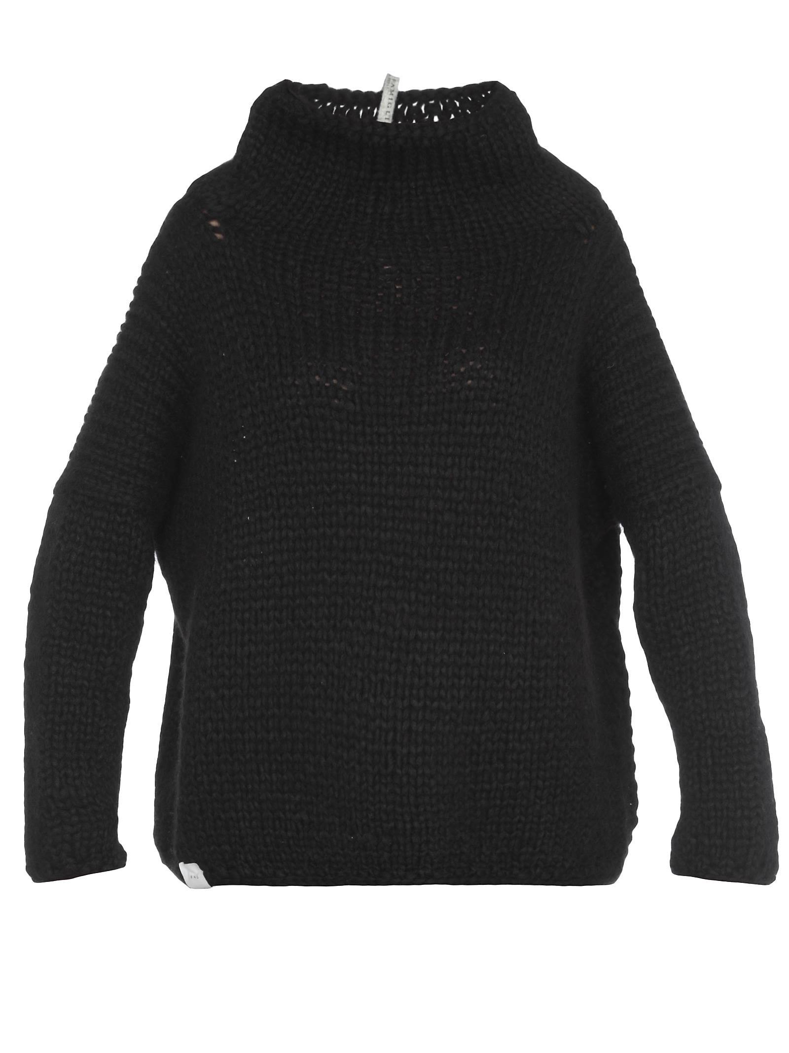 ALBUM DI FAMIGLIA Wool Sweater in Black