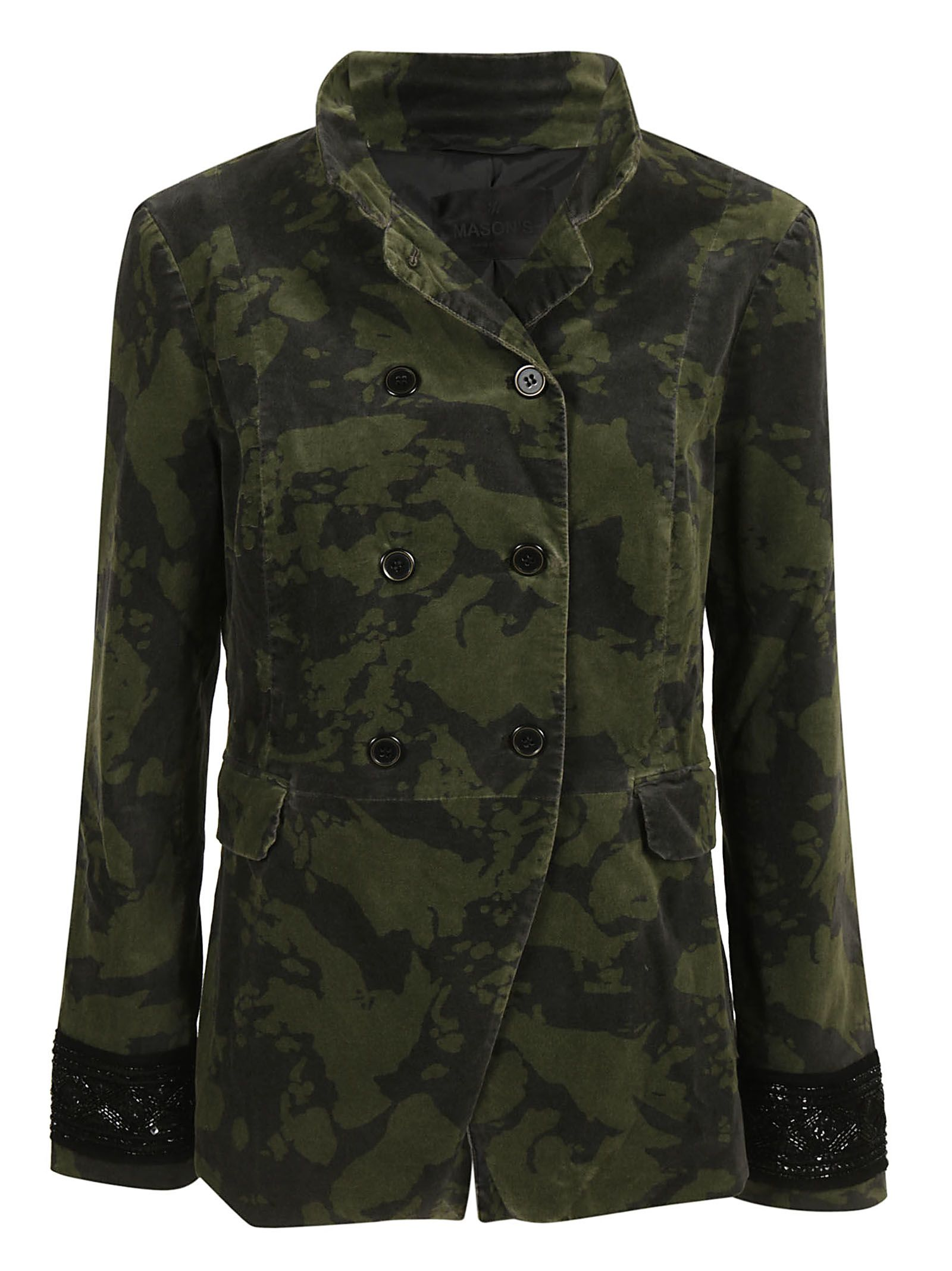 MASON'S Double Breasted Jacket in Verde