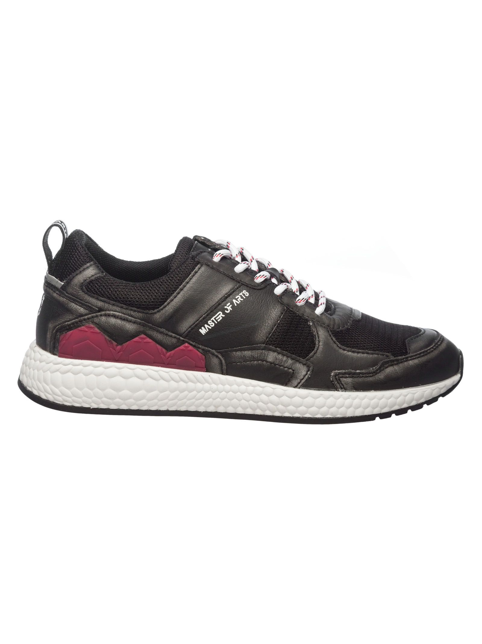 MOA COLLECTION Moa Usa Contrast Panel Sneakers in Black