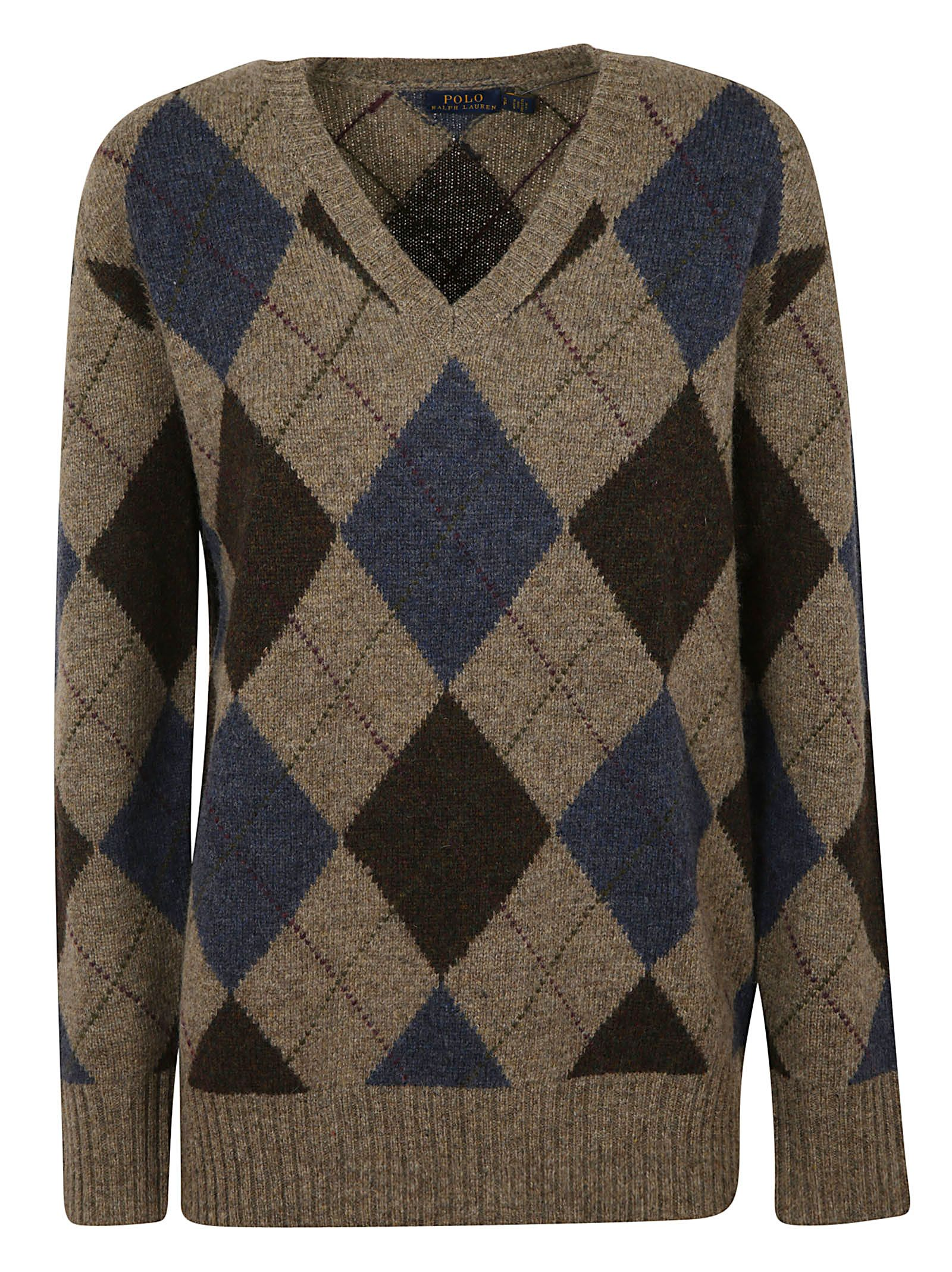 Polo Ralph Lauren Knits ARGYLE PATTERN KNIT SWEATER