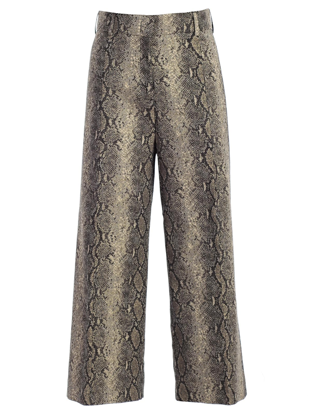 TWINSET SNAKE PRINT CROPPED TROUSERS